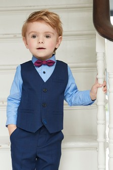Check Waistcoat Three Piece Set (3mths-6yrs)