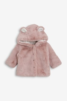 Baby & Toddler Clothing Girls' Clothing (newborn-5t) Baby Girl Next Grey Fleece Pram Jacket 3-6 Months