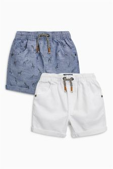 Linen Blend Shorts Two Pack (3mths-6yrs)
