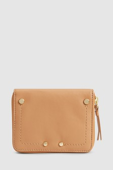 Leather Small Boxed Purse