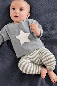 Star Fleece Jumper And Leggings Set (0mths-2yrs)