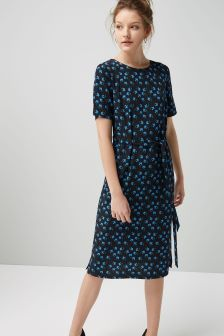 Printed Column Dress