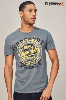 Superdry Grey Stencil T-Shirt