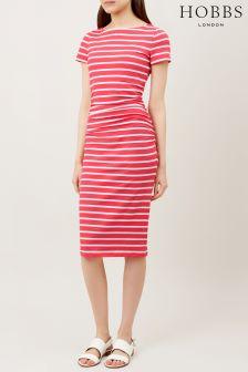 Hobbs Flamingo Pink Bridget Dress