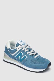 New Balance Blue/Cream 574