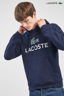 Lacoste® Navy Blue Classic Logo Hoody