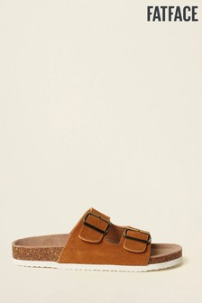 FatFace Brown Meldon Double Strap Sandal