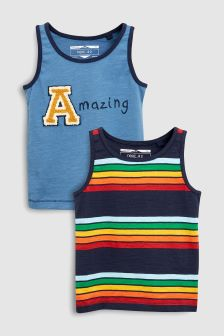 Slogan Vests Two Pack (3mths-6yrs)