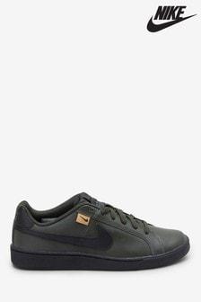 Nike Olive Court Royale Heel Tab Trainers