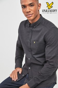 Lyle & Scott Black Colourblock Shirt
