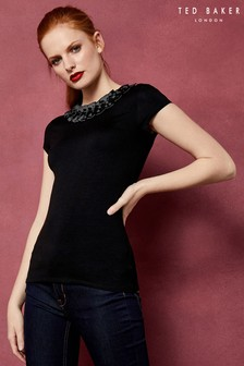 Ted Baker Charre Navy Bow Detail Tee