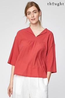 Thought Red Georgette Top