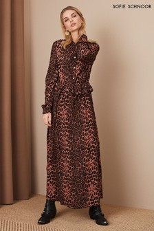 Sofie Schnoor Rose Leopard Midi Dress