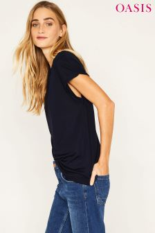 Oasis Blue Relaxed Tee