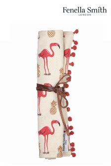 Fenella Smith Flamingo And Pineapple Jewellery Roll