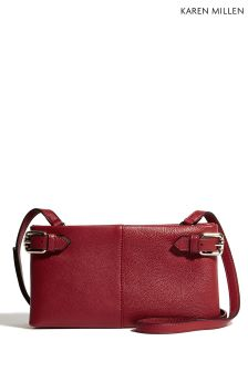Karen Millen Red Buckle Bag