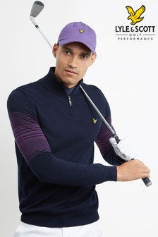 Lyle & Scott Golf Stripe 1/4 Zip Merino Jumper