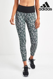 adidas Grey Print Believe This Iteration 7/8 Leggings