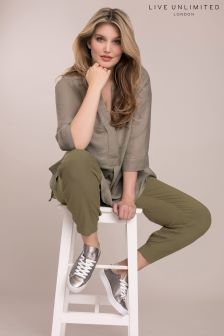 Live Unlimited Green Cargo Trouser