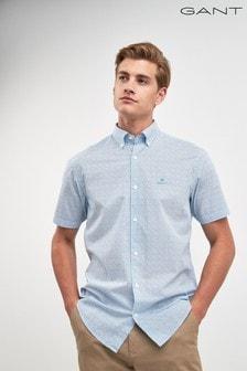 GANT Mens Ditzy Husk Micro Print Short Sleeve Shirt