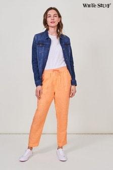 White Stuff Orange Aria Linen Trousers