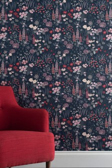 Paste The Paper Foxglove Floral Wallpaper