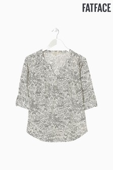 FatFace Natural Poppy Oriental Ditsy Popover Shirt