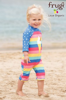 Frugi Organic Oeko-Tex UPF 50+  Rainbow Sunsafe Suit