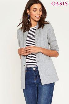 Oasis Grey Lightweight Jersey Jacket
