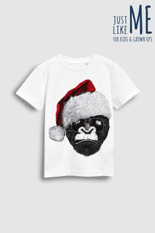 Kids Gorilla Santa T-Shirt (3-16yrs)