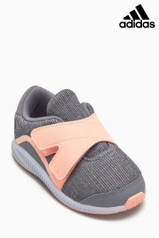 adidas Grey/Pink Forta Run Velcro