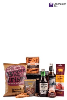 Beer And Savoury Snacks Box by Lanchester Gifts