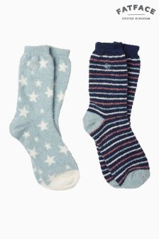 FatFace Green Star Fluvia Socks Two Pack