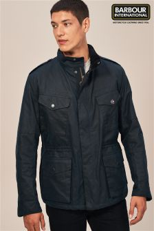 Barbour® International Navy Tuscon Wax Jacket