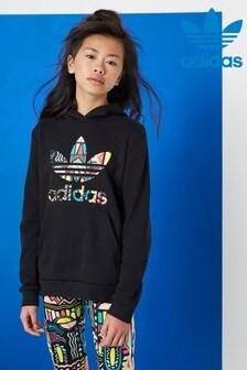 adidas Originals Black Aztek Trefoil Overhead Hoody