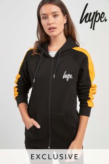 Hype. Black/Yellow Side Stripe Hoody