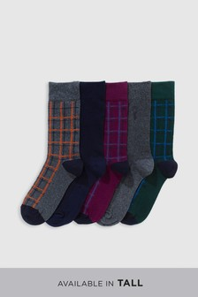 Check Pattern Socks Five Pack