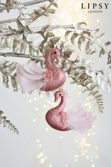 Lipsy Set of 2 Swan Baubles