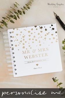 Personalised Foiled Confetti Wedding Book by Wedding Graphics