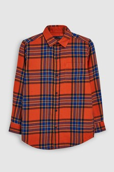 Long Sleeve Longline Check Shirt (3-16yrs)