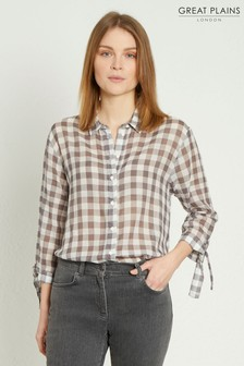 Great Plains Grey Gem Gingham Shirt