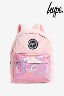 Hype. Faux Fur Holographic Backpack