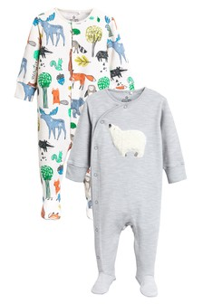 Fluffy Bear Sleepsuits Two Pack (0mths-2yrs)