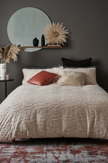 Florence Clipped Floral Duvet Cover And Pillowcase Set