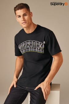 Superdry Black Triple Logo T-Shirt