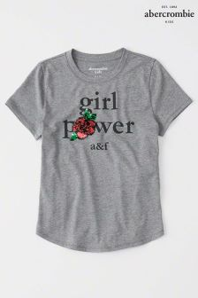 Abercrombie & Fitch Grey Girl Power Tee