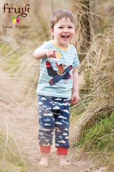 Frugi Organic Blue/Navy/Aeroplane Soft And Comfy Parsnip Trouser