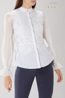 Coast White Syden Lace Shirt