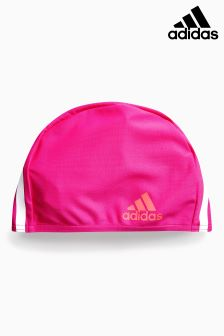 adidas 3 Stripe Pink Swim Cap