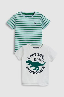 Short Sleeve Dino T-Shirts Two Pack (3mths-6yrs)